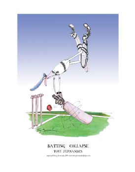 Batting Collapse - signed print